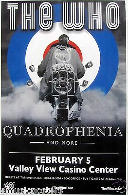 """THE WHO """"QUADROPHENIA"""" 2013 SAN DIEGO CONCERT TOUR POSTER - Mod On A Motorcycle"""