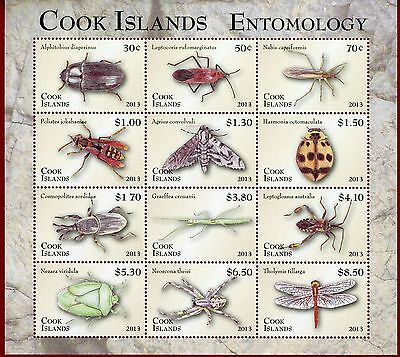 Cook Islands #1472, Sheet of 12, Insects & Spiders, Entomology, SCV $58.00