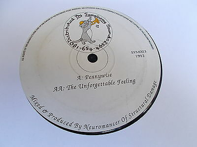 "Neuromancer Pennywise / The Unforgettable Feeling 12"" Symphony Sound 1992"