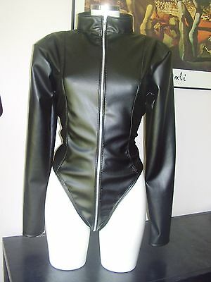 The Federation Leather Look Catsuit  Brand New Cross Dress