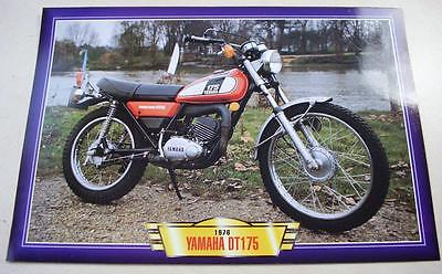 Yamaha Dt175 Dt 175 Twin Shock Trail Bike Classic Motorcycle 1970's Picture 1976