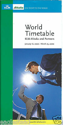 Airline Timetable - KLM - Alitalia - 16/01/00 - World edition