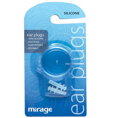 MIrage Silicone Swimming Pool Ear Plugs - Great for kids with grommits