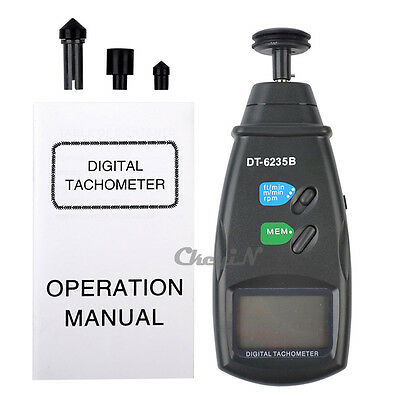 Adjustable Contact Tachometer Handheld Rotation Meter Touch Tachometer Tester