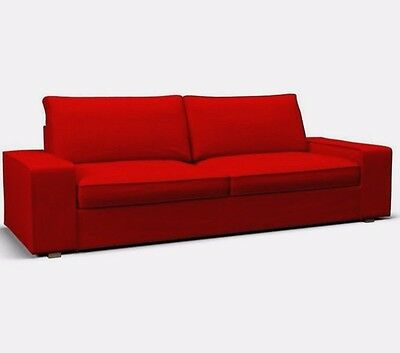 Ikea Kivik Loveseat Sofa W Chaise Longe Lounge Slipcover Cover Dansbo Medium Red Cad