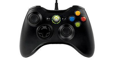 Microsoft Wired Xbox 360 Controller for Windows PC USB BLACK 52A-00003 [f33]
