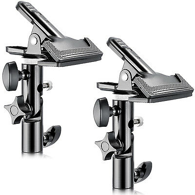 """Neewer 2PCs Photo Studio Metal Clamp Holder with 5/8"""" Light Stand Attachment"""