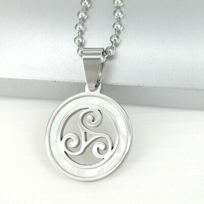Jewelry Trends Sterling Silver Celtic Border Triskelion Knot Pendant on 20 Inch Necklace