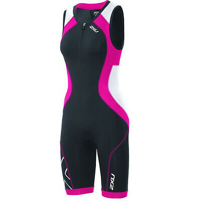 New 2XU Women Compression Trisuit Triathlon Tri Suit Ink Cherry Pink SELECT SIZE