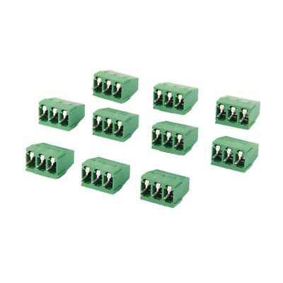 10pcs 3Pin Plug-in Terminal Block DG128 Screw Set 3P Pitch 5MM 300V/10A