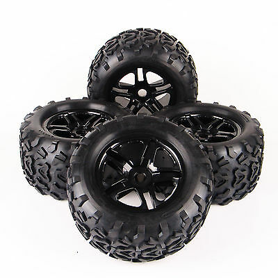4X RC 1:8 Monster Truck Bigfoot Tires Wheel Rim Tyre For TRAXXAS Summit HPI
