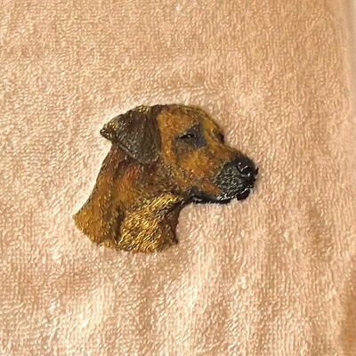 Rhodesian Ridgeback Dog Embroidered Towels, Dog Gift, Personalise, Embroidery