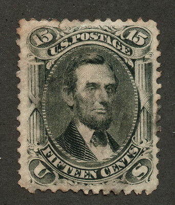 USA 1866 Lincoln 15c black #77 used