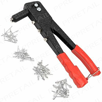 Rivet Gun With 60 Rivets +INTERCHANGEABLE NOZZLES+ Small-Large Safety Catch Tool
