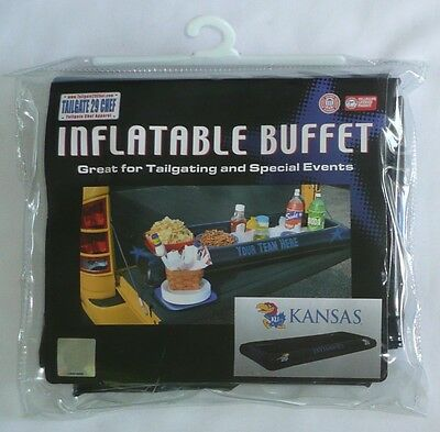 "KANSAS JAYHAWKS INFLATABLE BUFFET 55"" x 23"" KU Black Tailgate Buffet >NEW<"