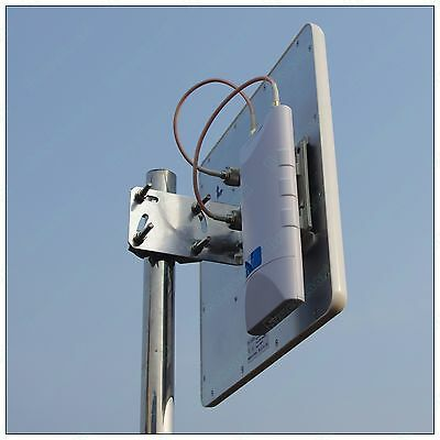 long distance Outdoor WiFi station Kit 5Ghz 300mBps AP CPE &2*17dBi mimo antenna