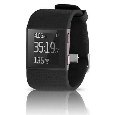 Fitbit Surge Fitness GPS Heart Rate Monitor Super Watch LARGE Black Superwatch
