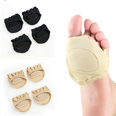 Forefoot Support Fabric Ball Of Foot Gel Pads Cushions Metatarsal Sore Hard Skin