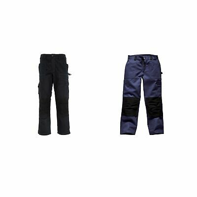 Dickies GDT 290 Cotton Trousers In Navy & Black - Workshop / Workwear