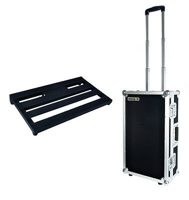 JOYO Guitar Effects Pedal Board with Wheely Flight Case - Fits 8-10 pedals