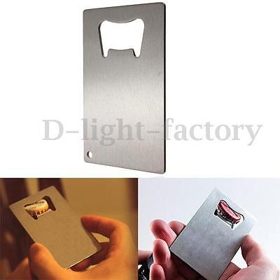 Credit Card Size Stainless Steel Speed Bottle Cap Opener Bar Blade Can Beer