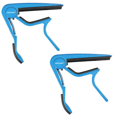 Neewer Blue Single-Handed Guitar Capo(2 Pieces)
