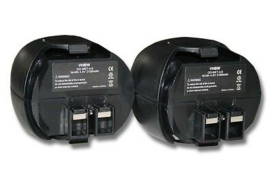 2x BATTERIA 2100mAh 4,8V per Metabo Powergripp Flashlight