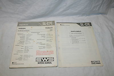 Kundendienstanleitung, Service Manual - Sony, Wega - SL-C7E - Video 3 - Betamax
