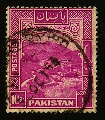 Pakistan 1951 Khyder Pass 10c Rose Lilac Sc #41 used