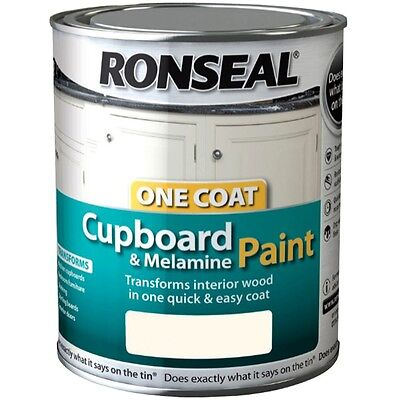 Ronseal One Coat Cupboard Melamine & MDF Paint 750ml Gloss Satin - All Colours