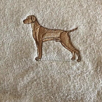 Vizsla Dog Embroidered Towels, Dog Gift, Personalise, Embroidery