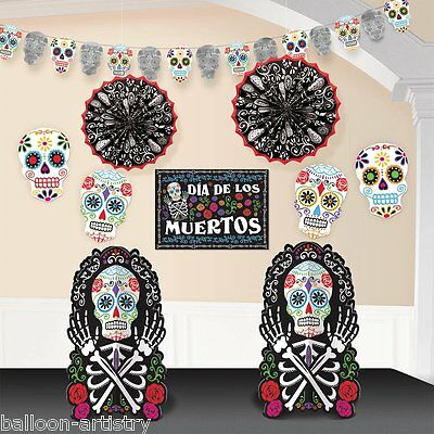 Day Of The Dead Halloween Decoration Kit Pack Jour Des Morts Dia De Los Muertos