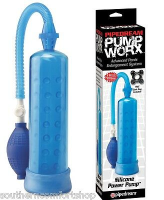 Pump Worx Silicone Power Penis Pump Enlarger Enhancer with Penis Ring