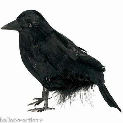 Raven Crow Halloween Party Prop Decoration Feathered Model Black Bird