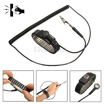New Anti Static ESD Adjustable Wrist Strap Discharge Band Ground Metal Bracelet