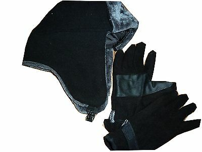 Mens Trapper hat..fleece gloves.lined inside.extra warmth .winter set