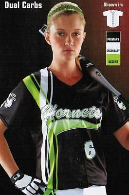 GIRLS Softball JERSEYS Adult TOP CUSTOM Sublimated YOUTH * Logo Numbers INCLUDED