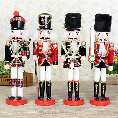 Large 30cm Vintage Soldier Figure Wooden Traditional Nutcracker Toy Home Decor