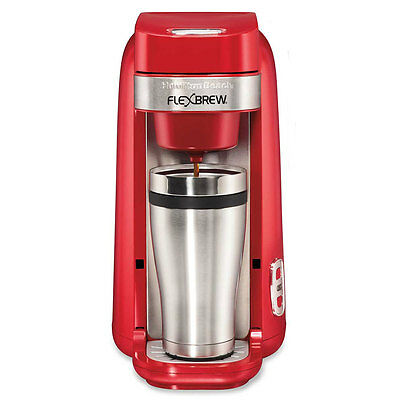 Hamilton Beach Single-Serve Coffee Maker, FlexBrew Red - 49960