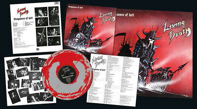 LIVING DEATH - Vengeance of Hell  LP  GREY/ RED BLEND