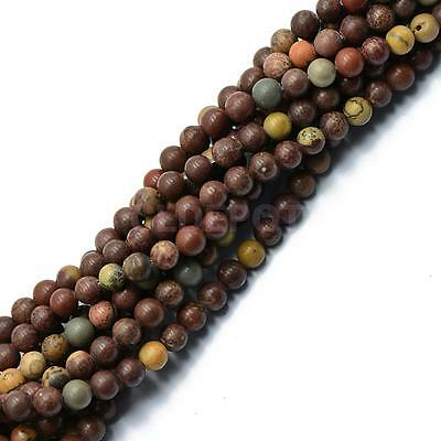 6mm Nature Grass Flower Round Gemstone Loose Beads Spacer Jewelry DIY 15''