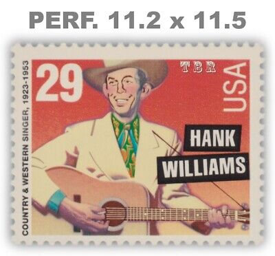 2723A Scarce Hank Williams 29c Variety Perf 11.2 x 11.5 From 1993 MNH - Buy Now
