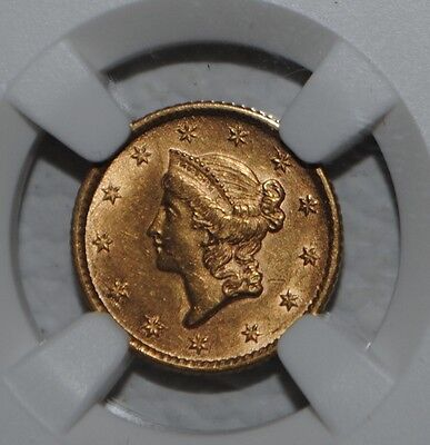 1853 Liberty Head Gold Dollar $1 NGC AU Details UNITED STATES COIN