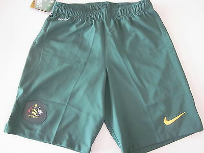 Australia Socceroos Shorts Boys Xl / Mens S Small New Green Football Soccer