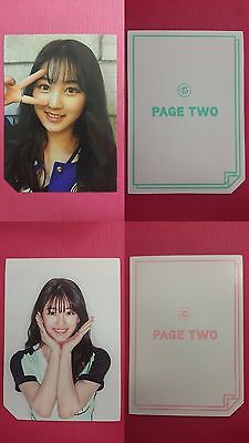 LOT of 2 TWICE JIHYO Official Photocard 2nd Album PAGE TWO Photo Card 지효