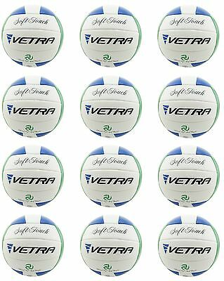 12Pcs Vetra Volleyball Soft Touch Ball Official Wholesale Lots White/Green/Blue