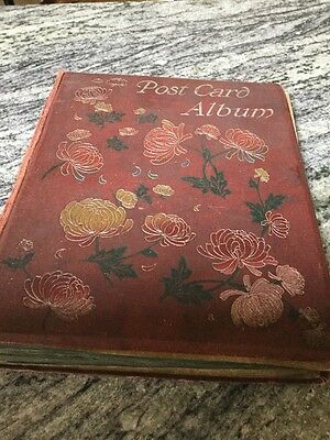 Vintage Old Postcard Album