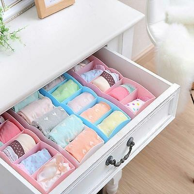 New 5 Slots Plastic Underwear Socks Accessories Home Organization Storage Box YG