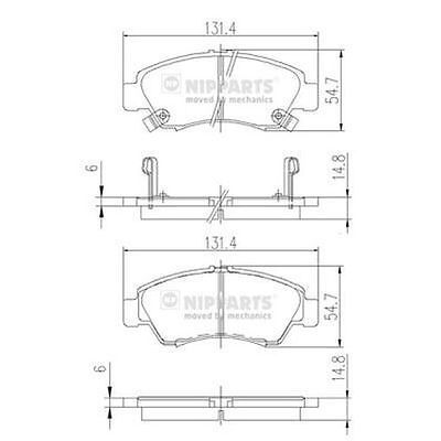 To Clear - New Oe Quality Nipparts - Front - Brake Pads Set - J3604034