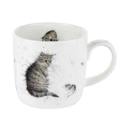 Wrendale Designs Mug by Royal Worcester Fine Bone China in Cat and Mouse
